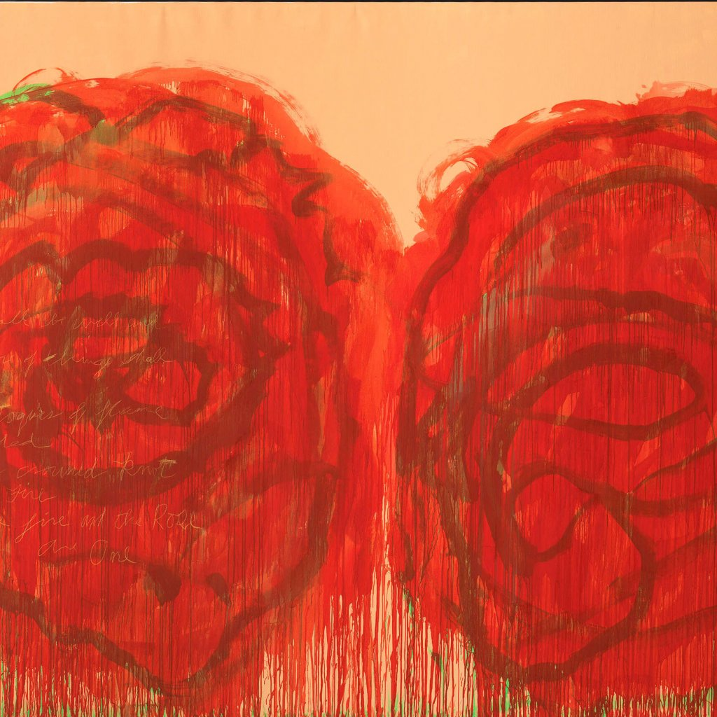 Cy Twombly Untitled (Roses) | 2008 © Cy Twombly Foundation | Foto: Bayrische Staatsgemäldesammlungen