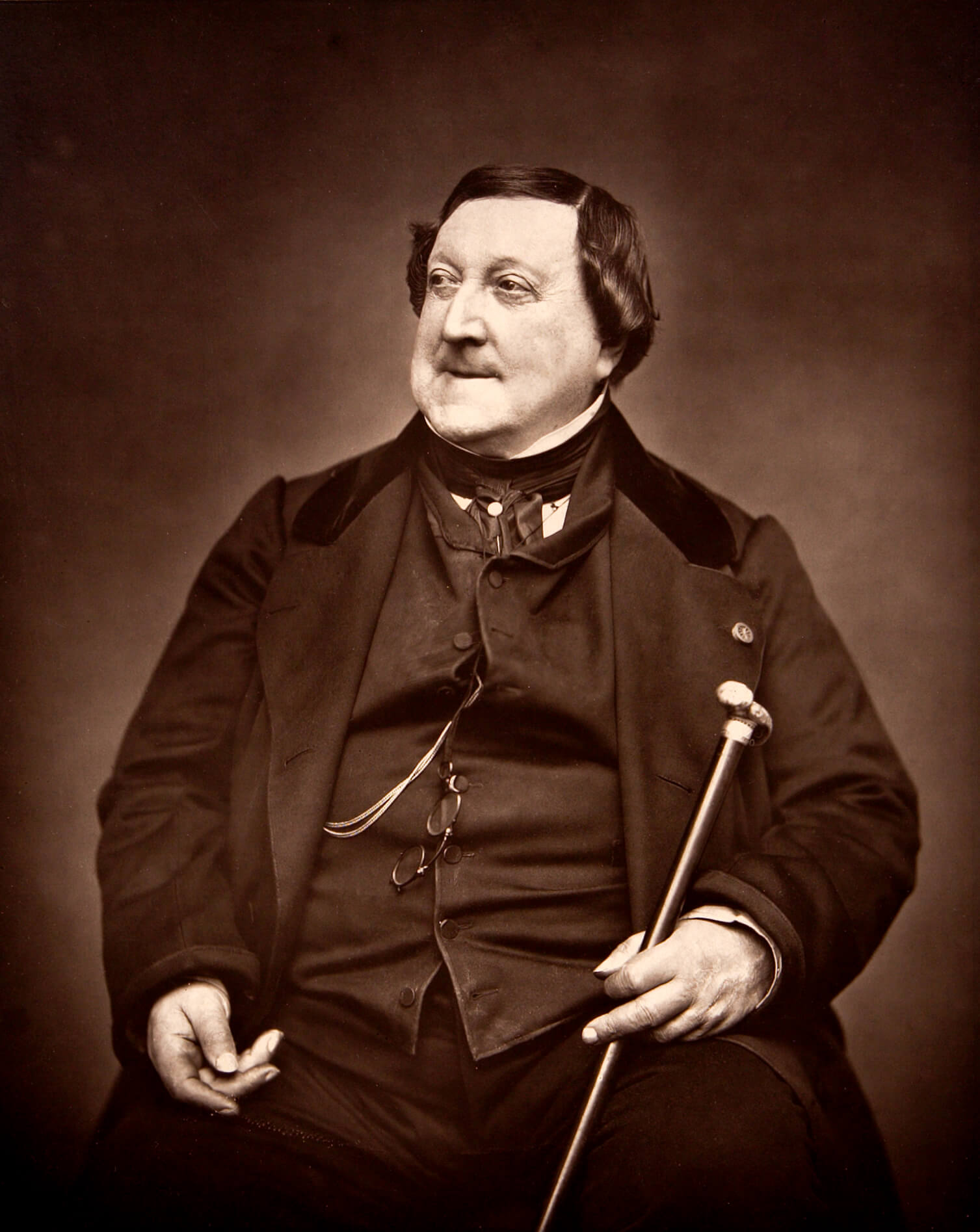 Rossini 1865. By Étienne Carjat - harvardartmuseums.org, Public Domain