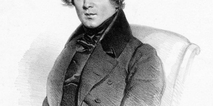 Robert Schumann 1839 - Litografie Josef Kriehuber - Public Domain