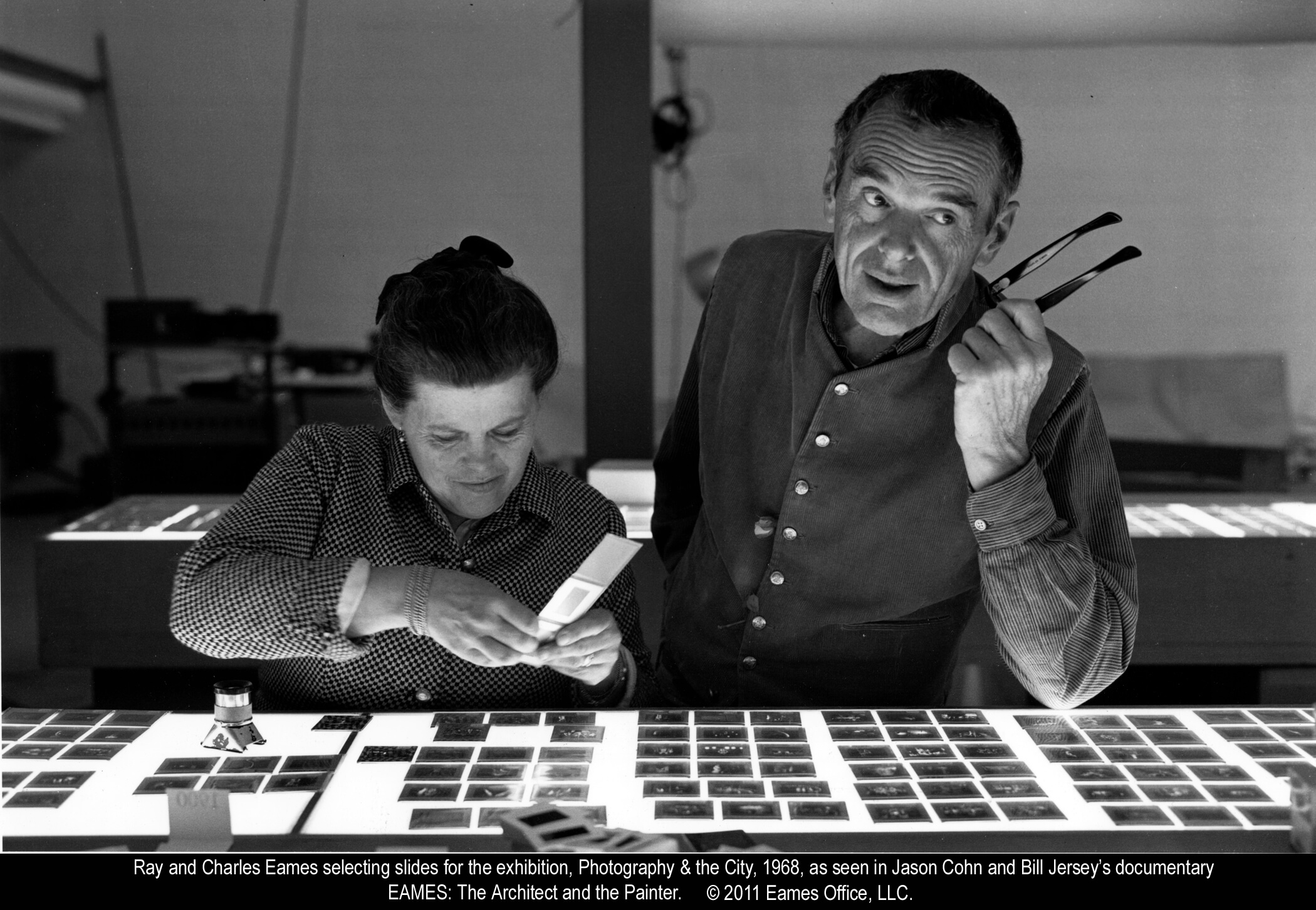 Ray and Charles Eames © 2011 Eames Office, LLC.