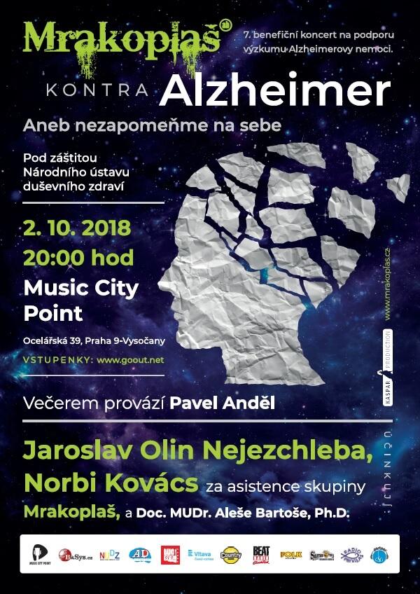 Na Začátku října Proběhne Benefiční Koncert Mrakoplaš Kontra Alzheimer