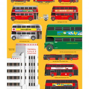 London Bus Illustration Print