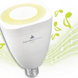 Hrající žárovka Awox Striim Light, foto zdroj Audiopro.cz