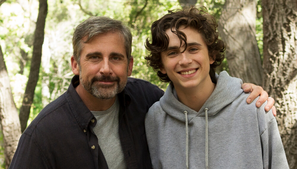 Steve Carell, Maura Tierney, Timothée Chalamet, Oakley Bull, and Christian Convery star in BEAUTIFUL BOY - foto Aerofilms