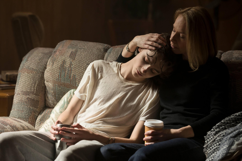 TimothŽe Chalamet as Nic Sheff and Amy Ryan as Vicki Sheff star in BEAUTIFUL BOY / všechny fotografie Aerofilms