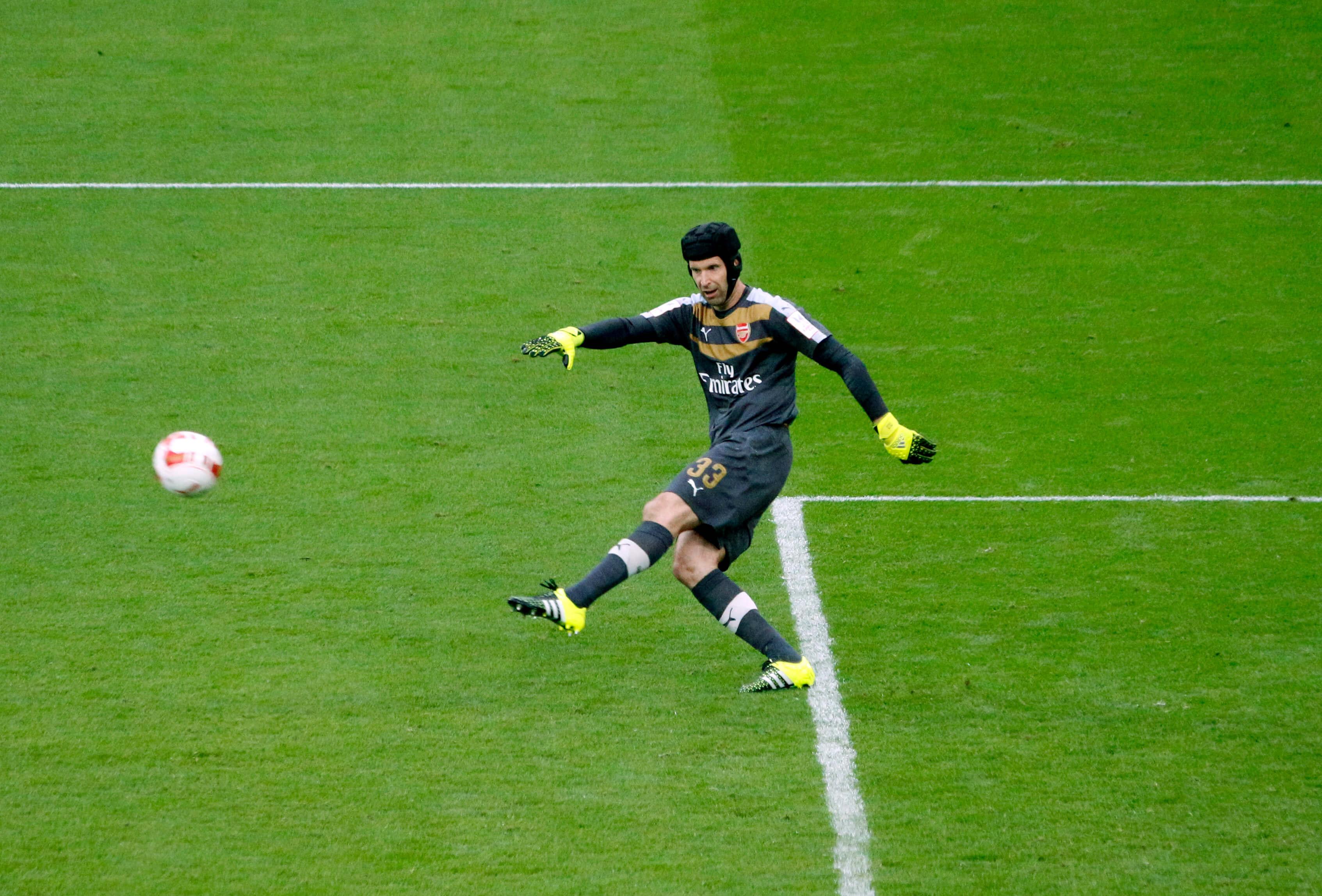 Petr Čech při zápase, foto DSanchez17 via flickr, licence CC 2.0 <a href=