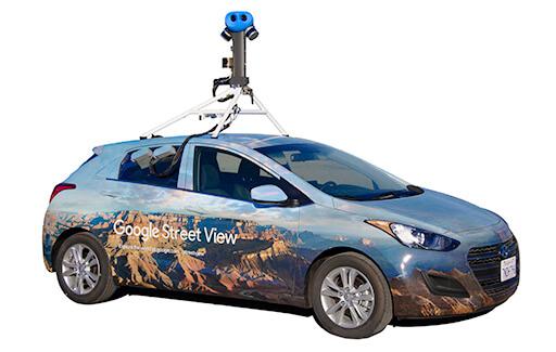 Google Street View Car, Foto Google
