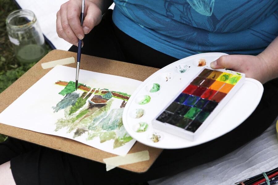 foto Výtvarný ateliér Malování kreslení