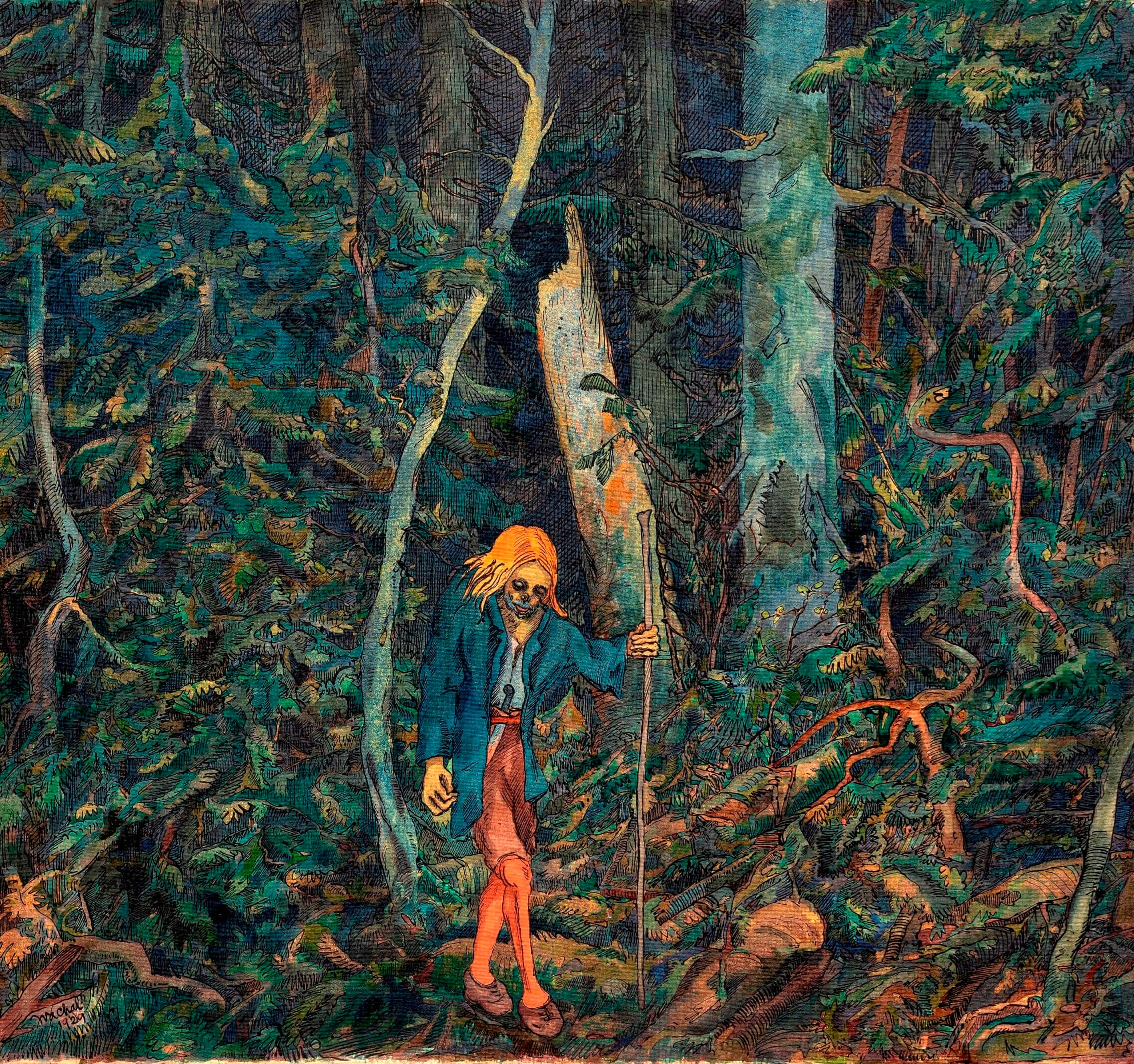Josev Váchal - Mrtvý v Pralese