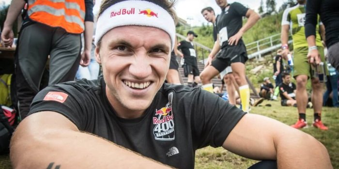 Martin Fuksa Poses For A Portrait At The Red Bull 400 In Harrachov, Czech Republic On September 13th 2014 // Jan Kasl / Red Bull Content Pool // 1410770831915-1314043098 // Usage For Editorial Use Only // Please Go To Www.redbullcontentpool.com For Further Information. //
