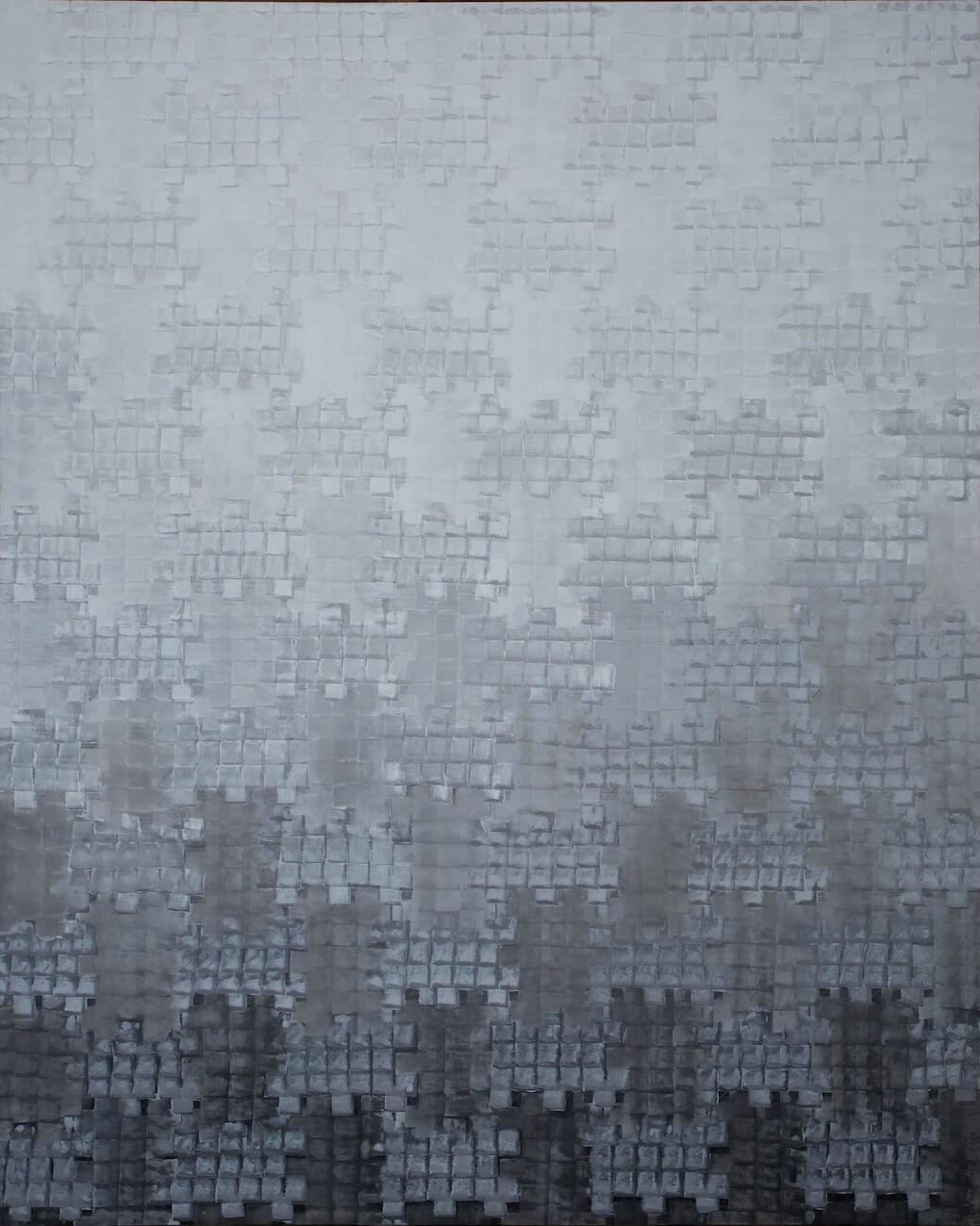 Struktura, 2012, akryl na plátně, 300 x 240 cm. Foto © Galerie hlavního města Prahy