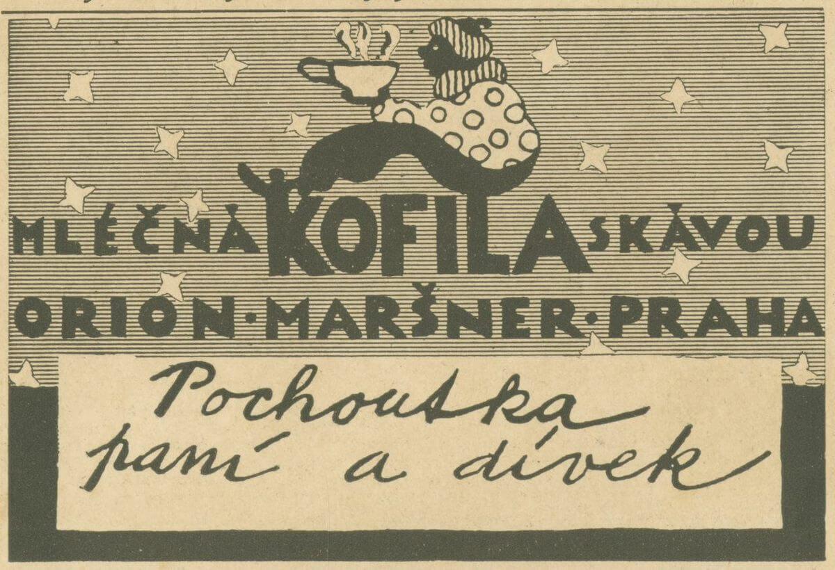 Reklama z roku 1929, foto Kofila