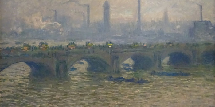 Claude Monet, Most Waterloo, Zataženo, 1903