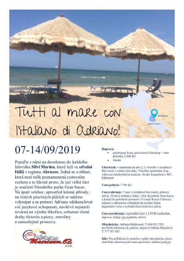 Tip Na Září: Italština U Moře