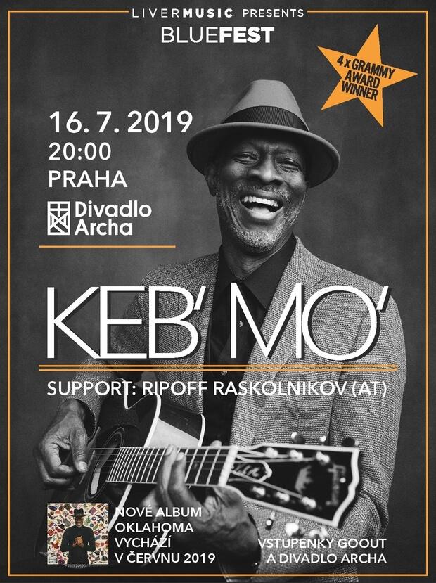 Keb' Mo' Představí Svoji Sólovou Show V Praze