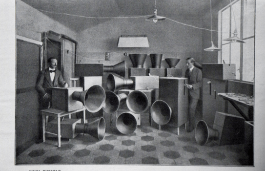 "Instruments   Henry Russolo, Pravděpodobně První Zdokumentovaný ""DJ A Techno Producent"" Na Světě, Rok 1913 - Instruments For Futuristic Music, Called ""Bruitism"", Partly Electrically Operated, Built By Russolo 1913"
