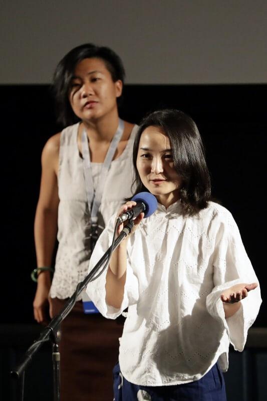 Režisérka Mijie Li a producentka Betsy Tsai (4.7., úvod k filmu Konfuciánský sen)