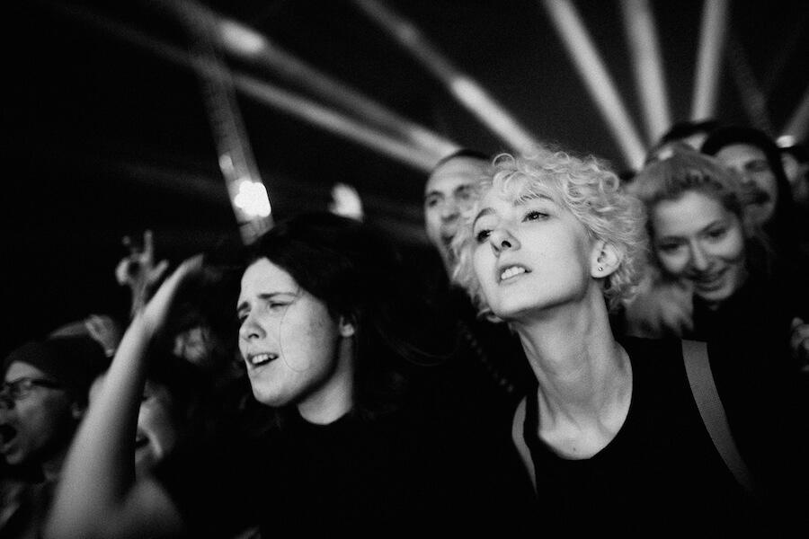 publikum na Pohodě během Death Grips - foto Tomáš Kuša