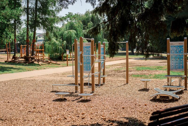 Nově vybudovaná fitness a workout zóna a lanová stezka čekají na své návštěvníky  - foto  Výstaviště Praha