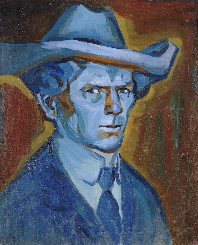Bohumil Kubišta Modrý Autoportrét 1909