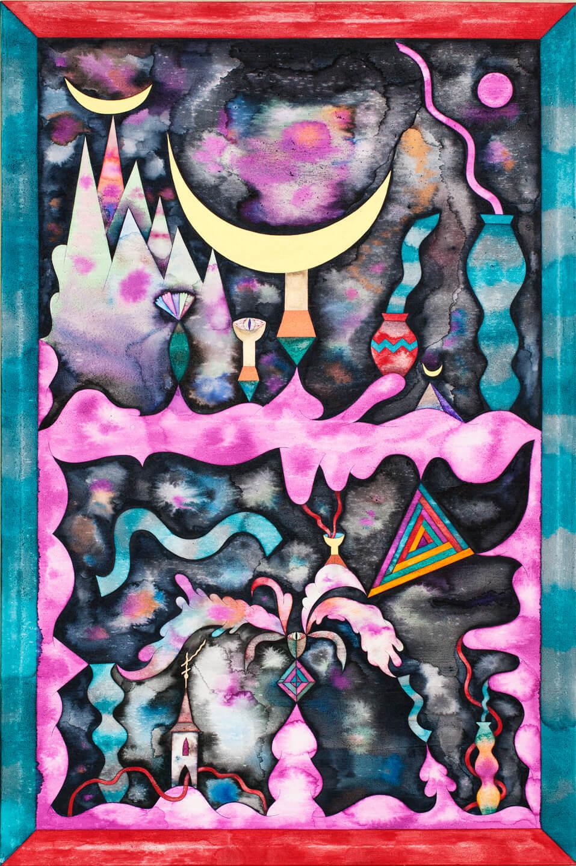 Anežka Hošková, South Of Heaven, 2012, 80 X 120,cm, Akvarel Na Plátně