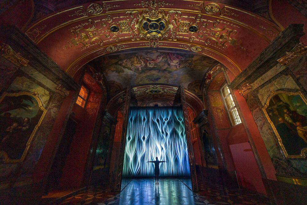 Foto Jiri Sebek Instalace Multiverse .pan Autor Fuse Zrcadlová Kaple Klementina