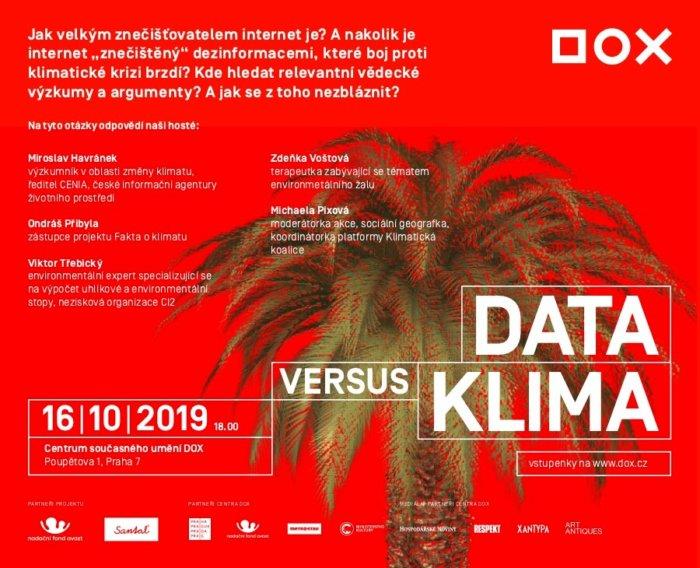 DOX Nabízí Diskusi Data Vs. Klima