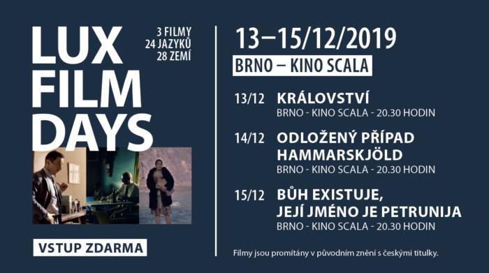 Filmová Cena LUX 2019 Vbrněnském Kině Scala