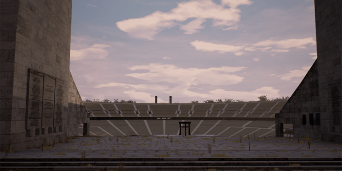 David Claerbout, Olympia (The Real Time Disintegration Into Ruins Of The Berlin Olympic Stadium Over The Course Of A Thousand Years)