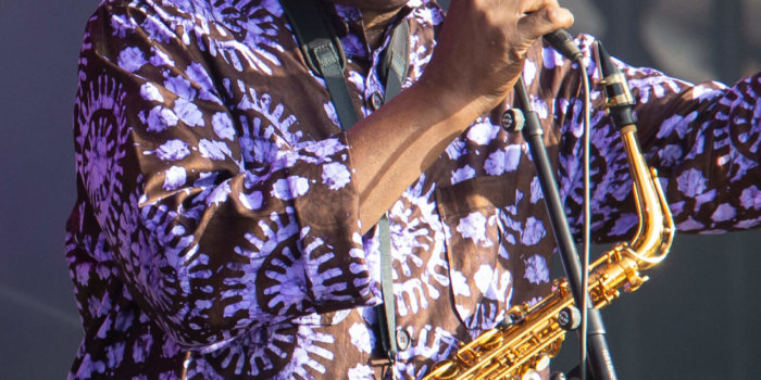 Manu Dibango V Roce 2019. By Selbymay - Own Work, CC BY-SA 4.0, Https://commons.wikimedia.org/w/index.php?curid=88505041