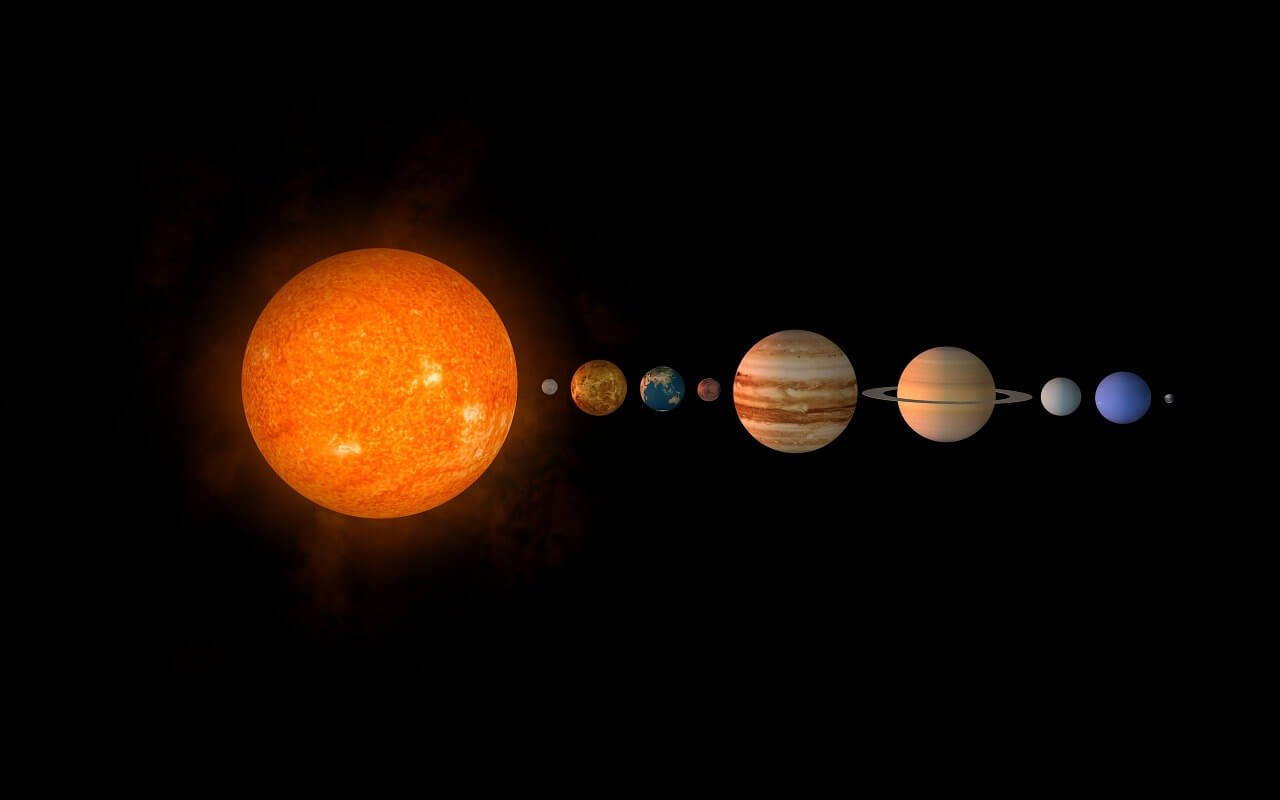 Solar system. Image by <a href=