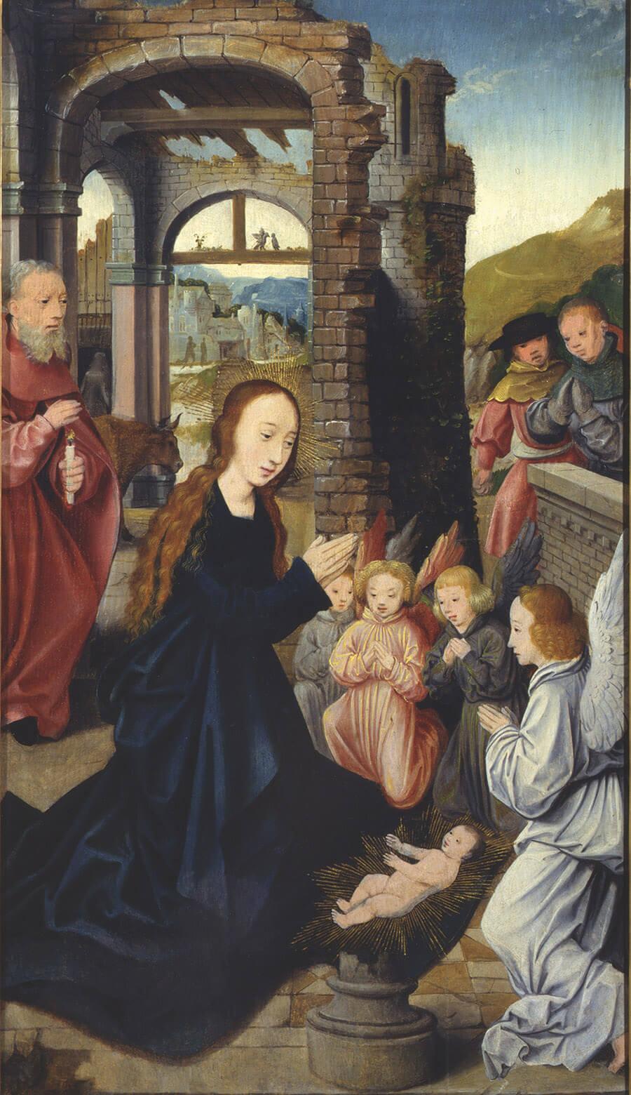 Bartholomäus Bruyn, Narození Krista z oltáře se sv. Olafem Norským, 1512 – 1515, Biskupství litoměřické_MUO