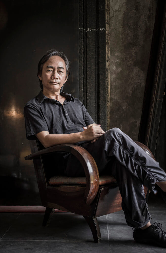 Vietnamese artist. LE THUA TIEN at his studio and home in Hue central Vietnam