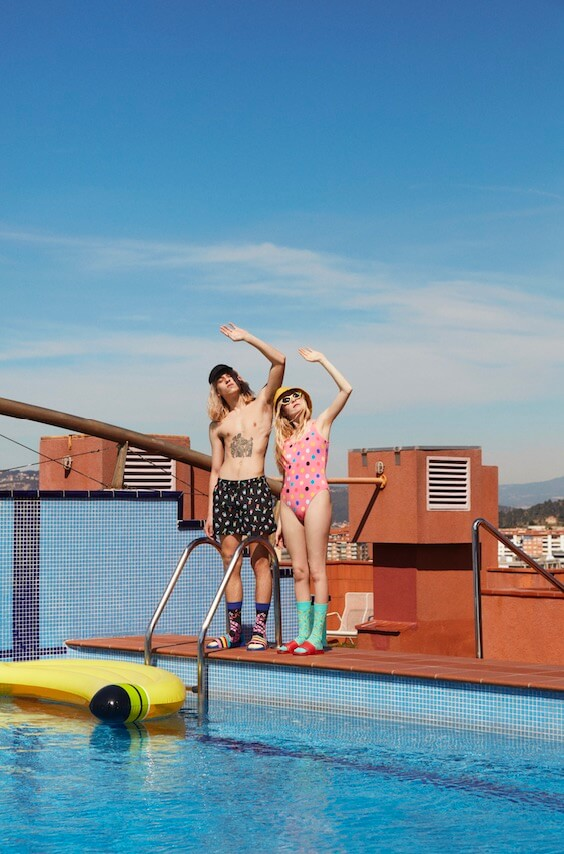 Letní Motivy Na Ponožkách I Plavkách Happy Socks