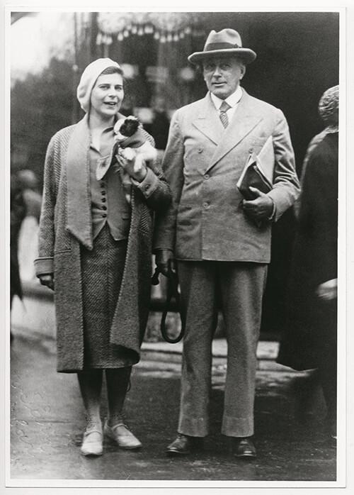 Adolf Loos S Manželkou Klárou Beckovou Foto Archiv SDCN