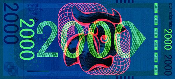 Pamětní Bankovka Pod UV Lampou_Přední Strana Tuan Vuong Trong_Ateliér Tvorby Písma A Typografie UMPRUM