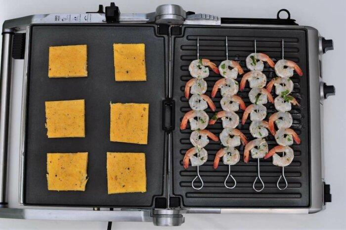 Recept: Krevety Na špízu Sgrilovanou Polentou