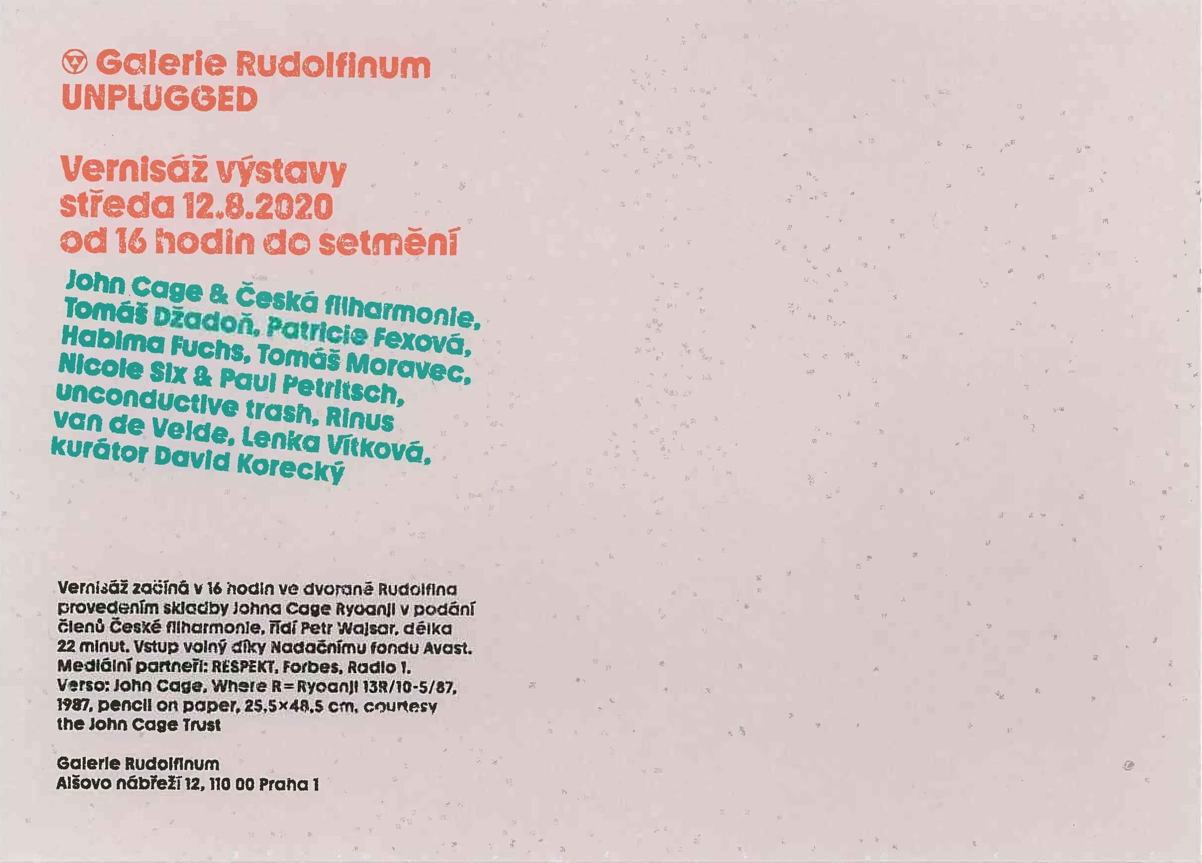 Galerie Rudolfinum UNPLUGGED