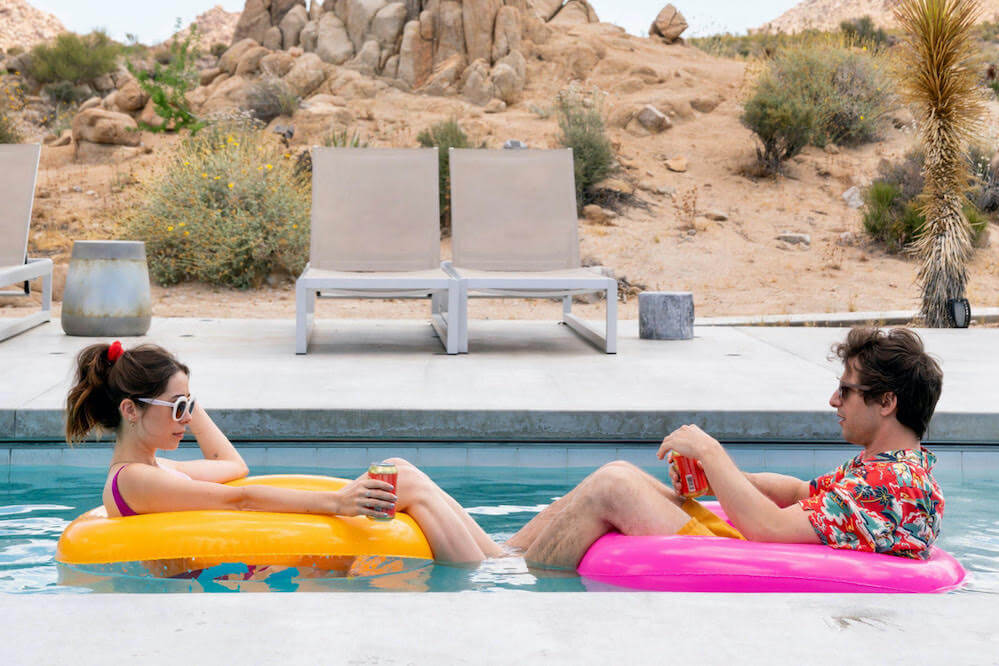 Andy Samberg and Cristin Miliot - <i>Palm Springs</i> by Max Barbakow/Courtesy of Sundance Institute.