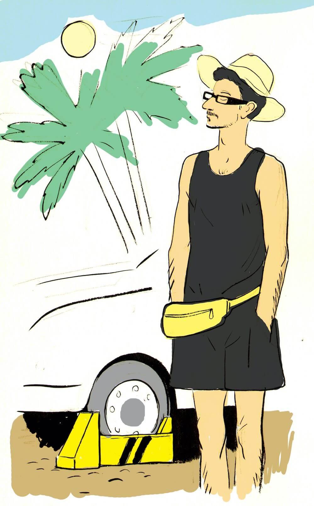 Džian Baban (kresba Jiří Grus)