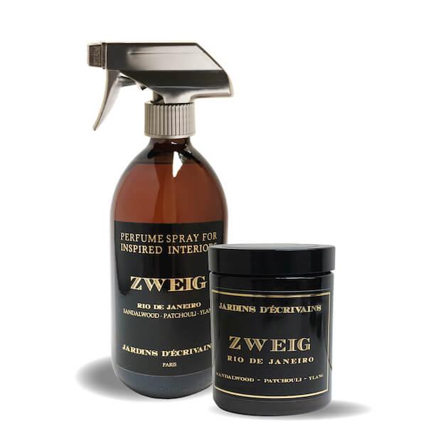Interiérový parfém A vonná svíčka Zweig Od Jardins D'crivains, foto Myslino