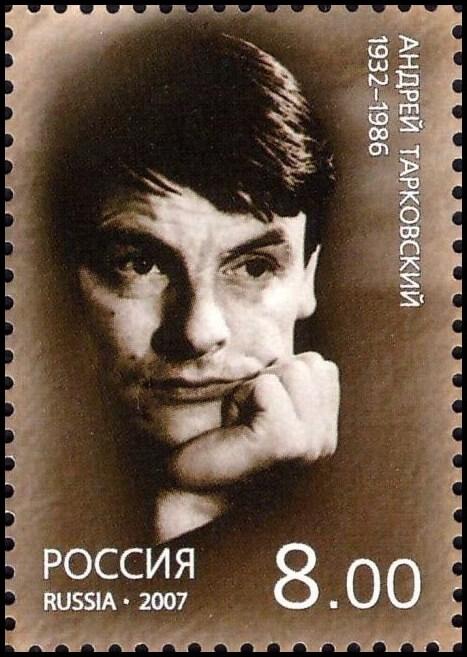 Ruská známka s Andrejem Tarkovským (2007) (public domain)
