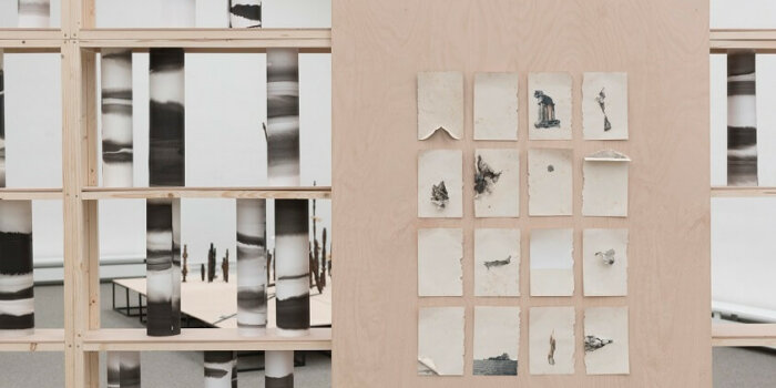 """Lucie Tallová Ilustracni Foto Vystavy Looking Trough Detail Z Instalace Vystavy """"Islands"""", Photo Credit Adam Šakový"""