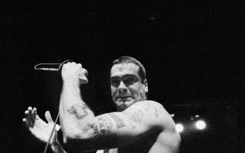 Henry Rollins na koncertě v Divadle Archa v 90. letech minulého století, foto Jiří Janda