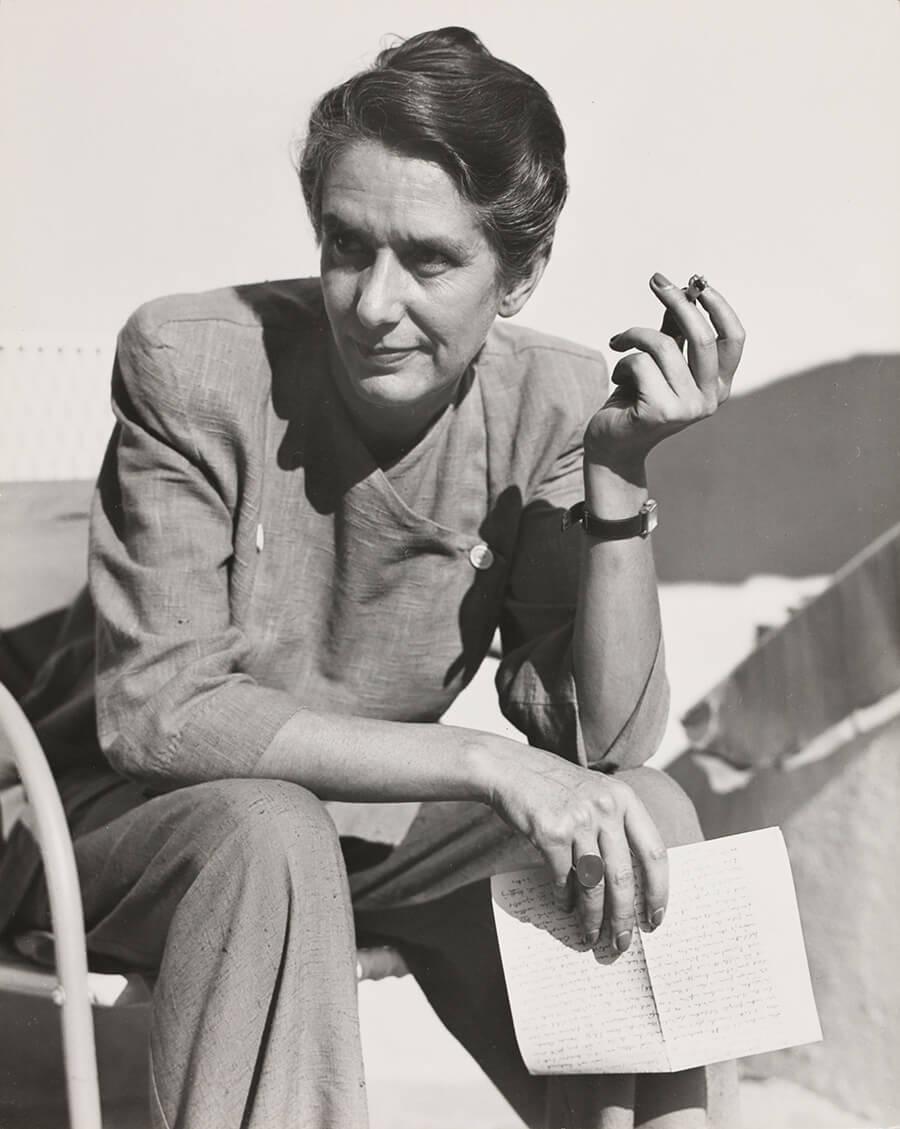 Erika Mann, 1948 Foto: Florence Homolka Zdroj: Münchner Stadtbibliothek / Monacensia