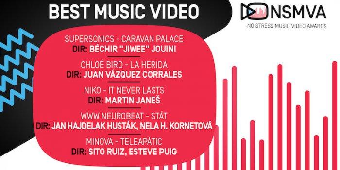 Finalisté NSMVA Videoklip Roku