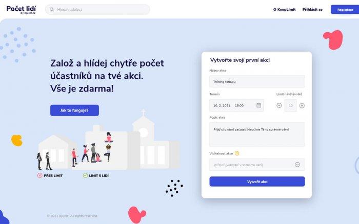 Početlidí.cz Pomáhá Pořadatelům: Hlídá Počet účastníků Akcí