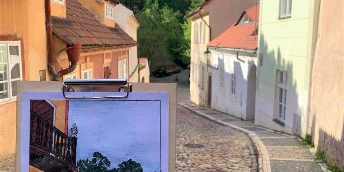 Černínská Ulice, Kresba Markéta Jahnová