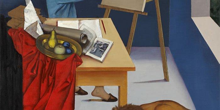 Autoportrét V Mládí, Z Cyklu Ztracené Klíče Self-portrait At An Early Age, From The Series The Lost Keys 2015 Olej, Plátno / Oil On Canvas 170 × 130 Cm V Majetku Autora / Collection Of The Artist