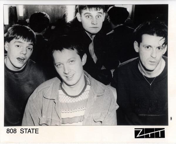 Promo snímek kapely 808 State z roku 1991.